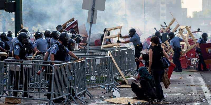 Rioting in Minneapolis